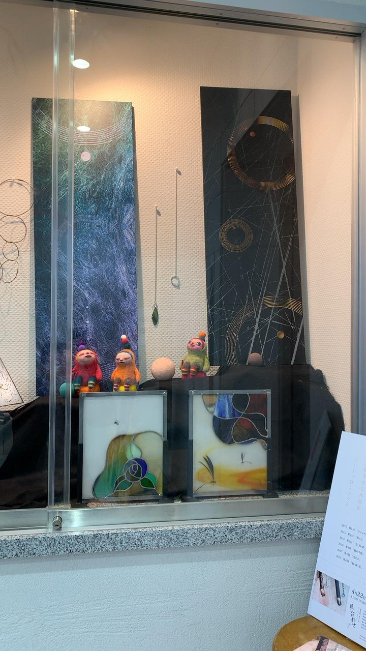 ギャラリー展示 月の展示は吉祥恬如アートプロジェクト(テーマ:シャボン玉)